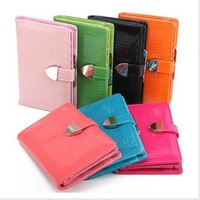 Love sweet  japanned leather candy bright color small plaid women's short design wallet free shipping