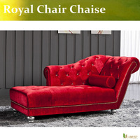 U-BEST  Pull clasp sofa Chaise lady chair New classical European style sofa Royal chair in red color