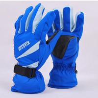 Winter female Men ski gloves waterproof gloves cold-proof motorcycle ride camping thermal