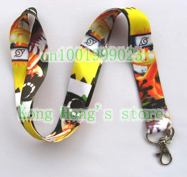 NARUTO Lanyard/ MP3/4 cell phone/ keychains /Neck Strap Lanyard wholesale 20pcs Free shipping(China (Mainland))