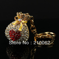 Free shipping rhinestone bag style Keychain IMG_6935 Ladies Bag Key Ring Charm 3pc/lot Min.order is $15 (mixed order)