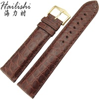 Haili hailishi crocodile skin watchband round pin buckle genuine leather watch band measurement