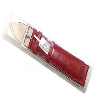 Aono aonuo watchband crocodile skin genuine leather strap watchband cowhide watchband red