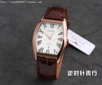Golden watch gn . 9055 rose gold genuine leather watchband barrel-type quartz mens watch