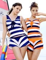 Steel push up swimwear 2013 wind split piece set culottes female swimwear   swimsuit  Free Shipping