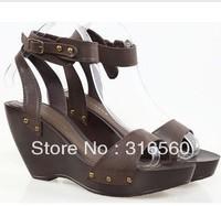 Best Selling!!2013 Summer fashion vintage women's platform wedges high-heeled sandals shoes Free Shipping