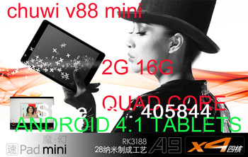 FREE OTG GIFT New Android Tablets Chuwi v88 Mini quad Core Pad 2G Ram 16G Rom 7.9 inch IPS Bluetooth HDMI Daul camera Rk3188