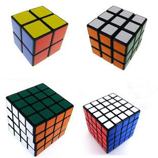 """Black Shenshou set of 4pcs Competitve Speed Spring Magic Puzzle Cube Game Intelligence Fancy Toy Gift 2.25""""(China (Mainland))"""