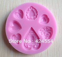 Free shipping 1PCS Silicone Baby 3D Mold Cookware Dining Bar Non-Stick Cake Decorating fondant