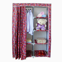 Thickening oxford fabric wardrobe overstretches 25mm steel pipe multi-layer simple wardrobe cloth wardrobe hanging clothes