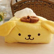 Amarelo bonito cão pudim purina caixa de tecido de pelúcia toalha de bombeamento Tissue capa guardanapo Box Retail KCS(China (Mainland))