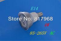4W E14 LED Spot light led lamp 85-265V AC Warm White /White /green /red bulb Lamp