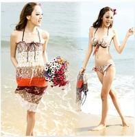 Fashion Women type full swimwear dress swimsuit piece set bikini short in size