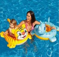 Intex child seat ring animal style inflatable seat baby swim ring tiger floating ring