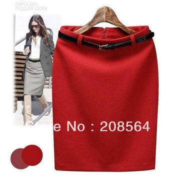 Новых женщин способа деловой костюм юбка-карандаш Элегантный Шерсть Профессиональное ...