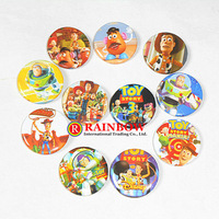 Free Shipping!Wholesale!New Arrival! 25mm 108 PCS/lot Toys Story Woody Buzz Jessie tin badge fashion pin badge badge button gift