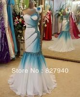 New style sweetheart one-shoulder sleeveless floor-length court train mermaid prom dresses