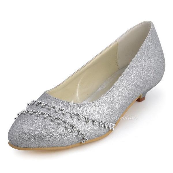 Online Get Cheap Low Heel Silver Evening Shoes Aliexpress