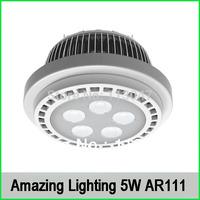 4pcs/lot, 5W AR111 led spotlight, 450lm  50W replacement G53 AR111 spotlight 12V AC