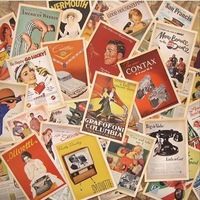 32pcs/box Vintage style Movie stars poster  Drawing post card set /postcards/ gift cards/Christmas Card/Gift