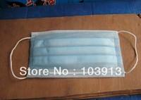 100pcs/Lot (50pcs/box) PM2.5 Dustproof Face Masks 3 Layers Non-Woven Fabric Disposable Mouth Masks