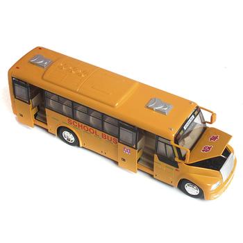 Rmz alloy model car toy car school bus big bus car model acoustooptical free shipping