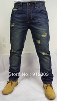 New Arrival Original Men's Jeans, Leisure&Casual pants, Man Wash Cotton Top Brand Denim Straight Logo Trousers QG1, 13 Styles