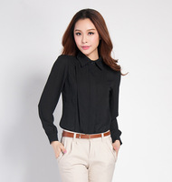 Free Shipping 2013 spring and autumn noble elegant lacing gentlewomen slim shirt 1389