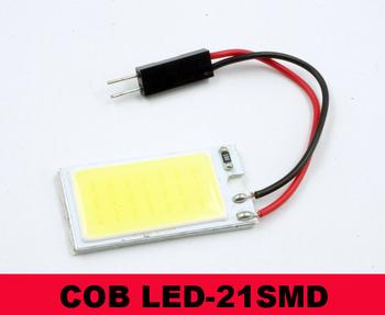 21 LED White LED High Power COB Dome Light Interior Lamp Panel T10 Festoon