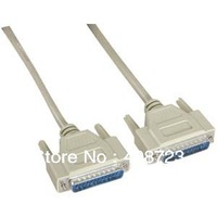 15 Ft 25 pin DB25 RS232 Serial Parallel Male Male Cable