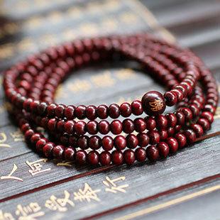 Fashion Natural Red sandalwood 5MM Beads Women Charm Bracelets & Bangle Multilayer Buddha Bracelet Men/ Women Handwork Gift