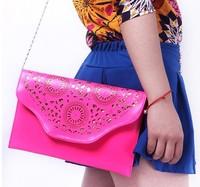High Quality 2013 Newest Design women PU Retro embossed handbag Fashion shoulder bag  Cute color Summer essential