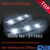 non-waterproof SMD 3528 LED light module LED backlight for channel letter DC12V 0.24W 3led/pcs 1000pcs/lot Fedex free shipping
