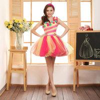 Free shipping Multicolour 2012 formal dress short  evening dress dance formal dress one shoulder formal dress