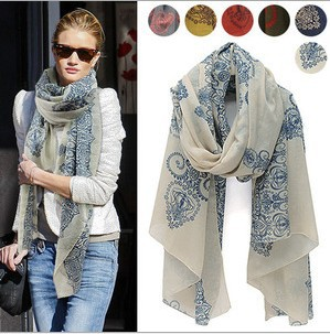 Summer autumn large scarf woman's scarf viocose bohemian scarves pashminas celebrity style Totem