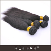 Straight Color1# Jet Black Brazilian Hair Extension