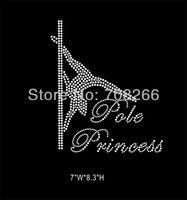 FREE shipping 50pcs/lot Rhinestone Iron On Transfer Pole Dance Crystal Bling for T shirt
