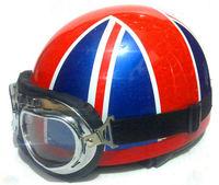 Whosale New Retro Vespa  half helmet W/Goggles ,scooter helmet,motorcycle helmet   S M L XL 2XL