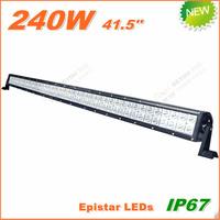 Free Shipping New 240W LED Work Light  Bar 12V 24V IP67 Flood Spot beam For 4WD 4x4 Off road Light Bars TRUCK BOAT TRAIN BUS