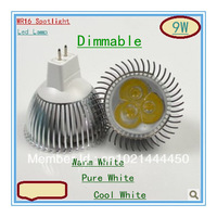 Dimmable Spotlight MR16 3X3W 9W Led Light Led Bulbs Energy Saving Equivalent to 50w Halogen Bulb free shipping