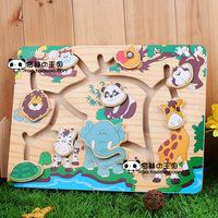 Free shipping Animal plate animal slide puzzle animal slide maze