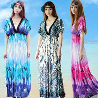 Fashion summer bohemia full dress casual beach dress skirt mm plus size one-piece dress