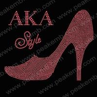 Fashion Free Shipping 30pcs/Lot High Heel Style AKA Wholesale Rhinestone Applique Iron On Transfer Hotfix Motif Design For Ts