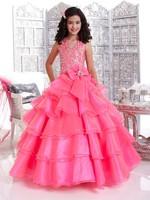 Free shipping  Custom made princess dress  floor length girls evening  dress  3-14
