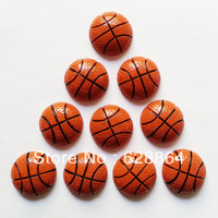wholesale 50 pcs Sports Basketball Resin Embellishments Flatback Flats Scrapbooking for Hair Bows Center Crafts DIY Frame