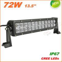 Free Shipping New 72W CREE LED Work Light  Bar 12V 24V IP67 Flood Spot beam For 4WD 4x4 Off road Light Bars TRUCK BOAT TRAIN BUS