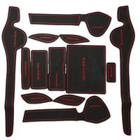 New 1 set 13 pieces Non-Slip Interior Door Mat Cup Mat For Hyundai Sonata YF i45 2011-2013