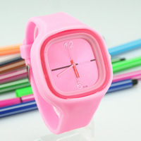 Lovers table personality quartz watch fashion jelly candy color table resin silica gel watches watch