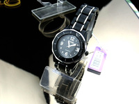 Cf839 watch women's quartz fashion watch table black ladies watch fashion resin watch watchband