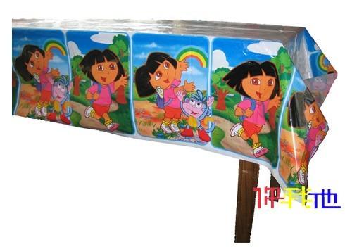 Free shipping Birthday supplies party supplies birthday dora table cloth(China (Mainland))